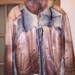 Hakiki deri kurt ceket
