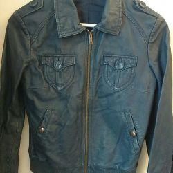 Genuine leather jacket H & M