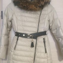 Down jacket on a girl