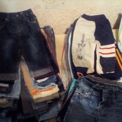 Jeans, pants, shorts, sandboxes
