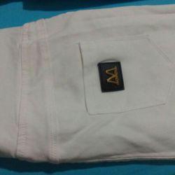 White stretch pants