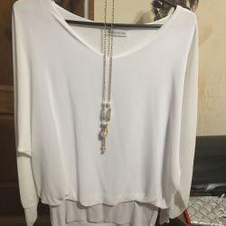 Nou bluză de șifon cu colier 42-44