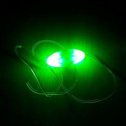 Шнурки светящиеся зеленые