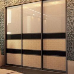 Sliding wardrobe Built with Rattan and Bamboo.