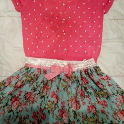 Μπλούζα και φούστα