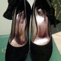 Παπούτσια πλατφόρμας, ψηλή τακούνια (σουέτ)