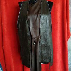 Designer leather vest
