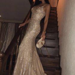 Вечернее платье jovani золотая рыбка