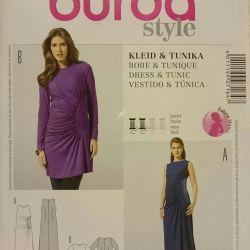 Pattern Burda Dress, Maternity Tunic