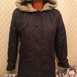 Jacket p / strat cu o capota pe blana 11-13let