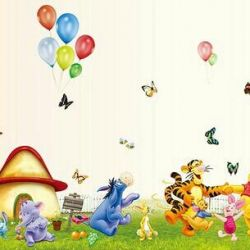 Wall decal Winnie the Pooh and his friends