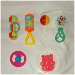 Rattles (4 pieces) - by the piece or together