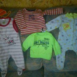 Вещи на малыша 0-3 месяцев