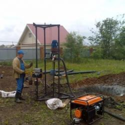 Drilling wells in the Crimea