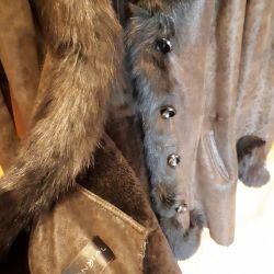 Sheepskin coat natural Mondial