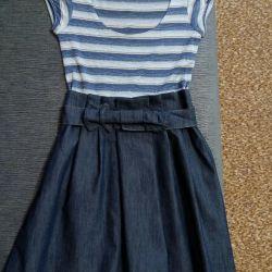 Dress (denim skirt)