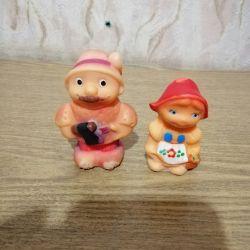 Küçük kırmızı başlıklı kız SSCB dizi lastik oyuncaklar