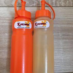 New jars for mayonnaise sauce