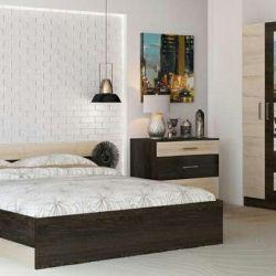 Ένα σύνολο υπνοδωματίων Cosiness (κρεβάτι 1.6, ντουλάπια-2 τεμ, συρταριέρα