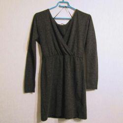 Платье туника повседневное серого цвета