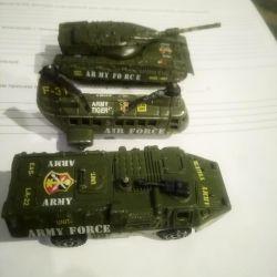 küçük askeri teçhizat 3pcs