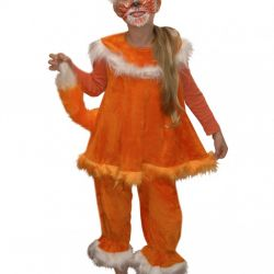 Children's carnival costume Chanterelle
