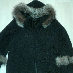 Astrakhan γούνα παλτό