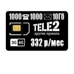 Tarife TELE2 Beta 332 ₽ / ay
