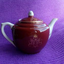 Заварочный чайник Вербилки 40-50-е г ручн. роспись