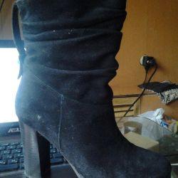 нат. замшеві чобітки