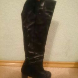Winter boots, genuine leather / fur