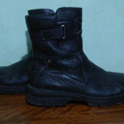 Natural Leather boots (tiger fur)