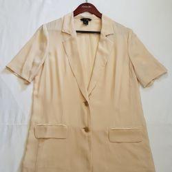 Victoria Secret silk jacket natural