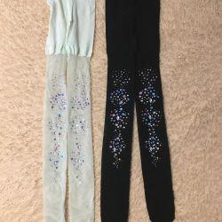 Pantyhose with rhinestones