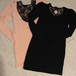Tunică - rochie cu guipure nouă