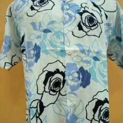 Новая мужская льняная рубашка