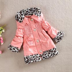 Jacket for girl, under the skin, height 100, and 110