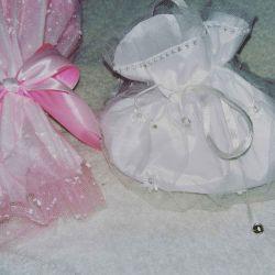 Handbag for the bride (Pompadour, tulle, lace)