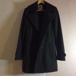 Вовняна демісезонне пальто 50-52 розмір