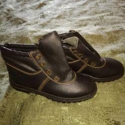Рабочие ботинки 38р-р. кожа