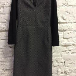 Официальное серое платье SERCINNETI