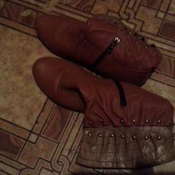 Нові коричневі чоботи осінь - весна, р.41