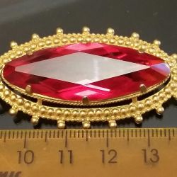 Brooch with gilding, USSR. Brand of the INC.