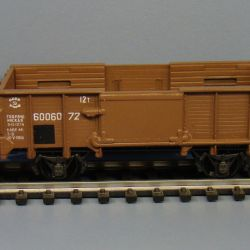 H0 1/87 2-axle gondola car with brake, 3rd epoch of MPS