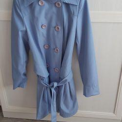 Practically new raincoat size is 42-44.