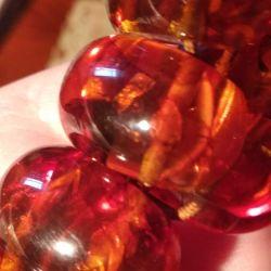 Beautiful bracelet made of artificial amber