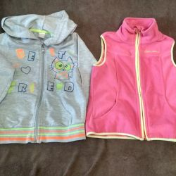 Vest and jacket for the girl growth 122
