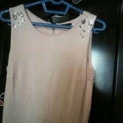 A beautiful, gently pink dress.