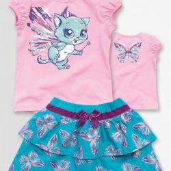 Pelican kit skirt + t-shirt for female 3 y