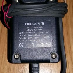 адаптер блок питания ERICSSON евро сетевой провод